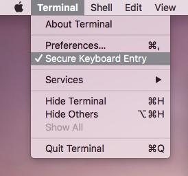 Secure Keyboard Entry