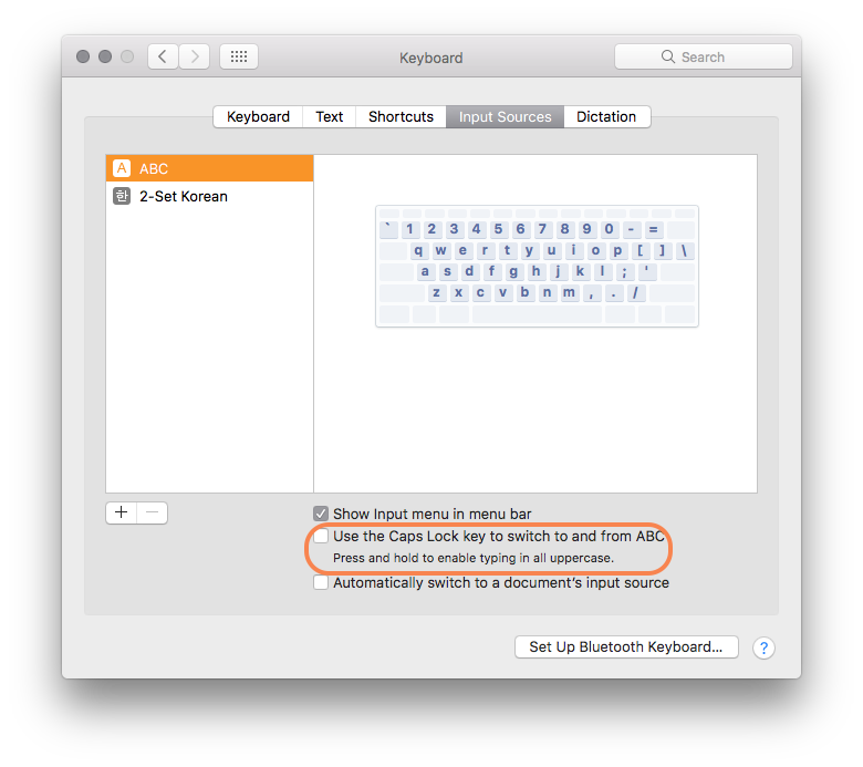 keyboard shortcut change