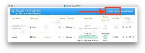 맥북 / macOS]SumoEasyMiner를 이용한 Mining Pool에서 일렉트로