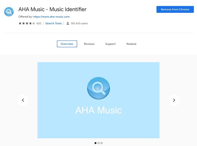 Aha Music Identifier